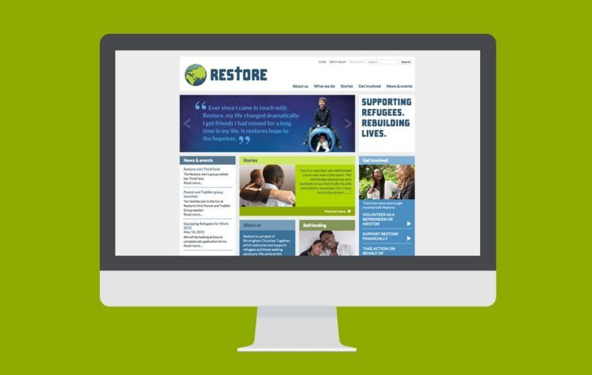 Web designers Birmingham – a responsive website for Restore UK