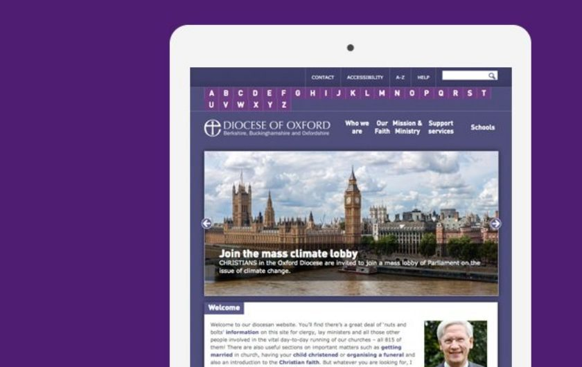 A new, responsive website  for Oxford Diocese