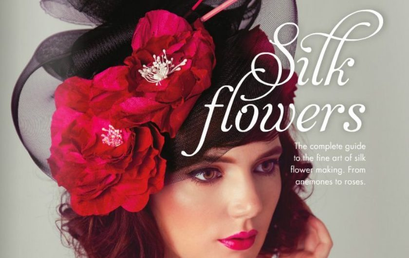 Silk Flowers making book;  design, print and distribution