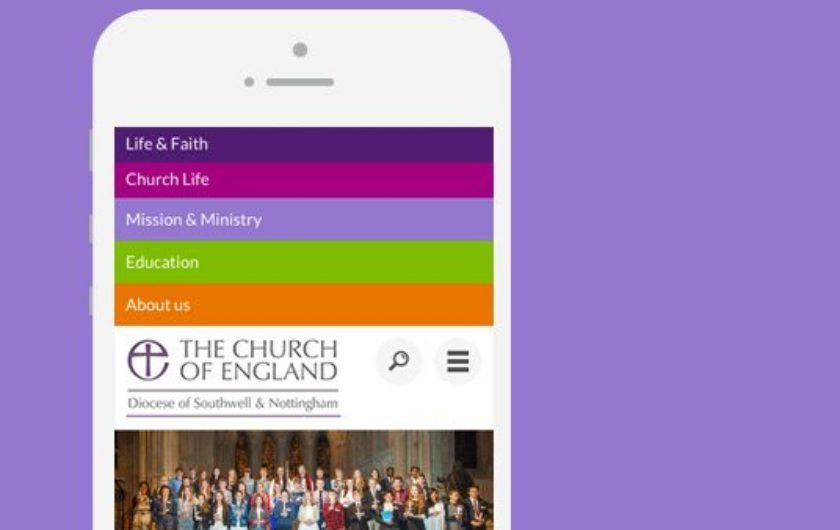 Diocese of Southwell & Nottingham website design