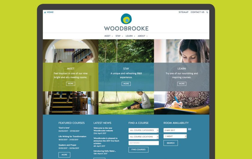 Woodbrooke eCommerce website design & build