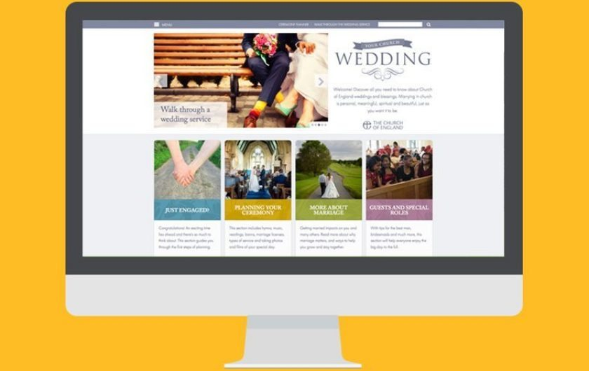 Flagship national weddings site web design and branding